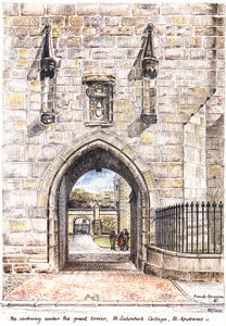 Frank Sproson 'The Archway Under the Great Tower, St. Salvator's College, St. Andrews'