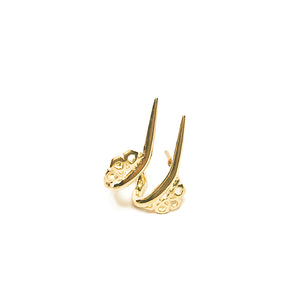 jewellery by hak the label daily earring double spike in gold