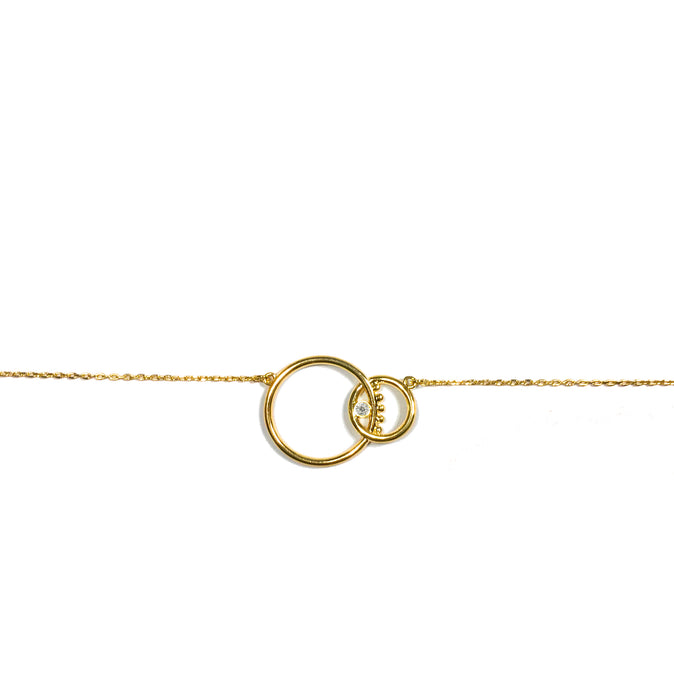 hak the label jewellery evilgem  necklace in gold and diamond