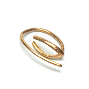 hakthelabel pin earring in gold