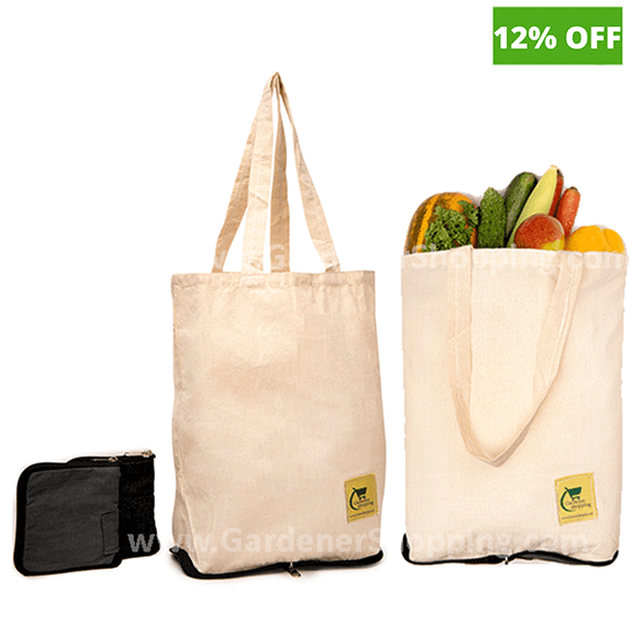 Tode Bags- (Reusable & Organic Cotton Fold-able Compact Shopping Bags)