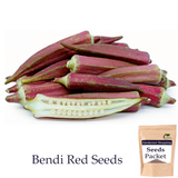 Okra Bhindi Red Seeds (Open Pollinated)- Buy Okra Red/ Lady finger Seeds Online India - Gardenershopping