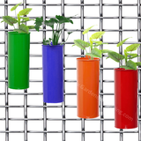 Cylindrical Balcony Railing Planters- Green, Purple, Orange & Red (4 FIFE POTS) - Gardenershopping