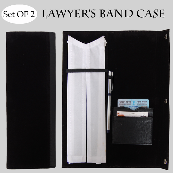 Set of 2-  Lawyers Band Case- (Buy Lawyer's Band Case Online India) - Gardenershopping