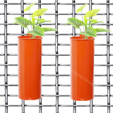 Set of 2- Fife pots- Cylindrical Railing Planters- Orange - Gardenershopping