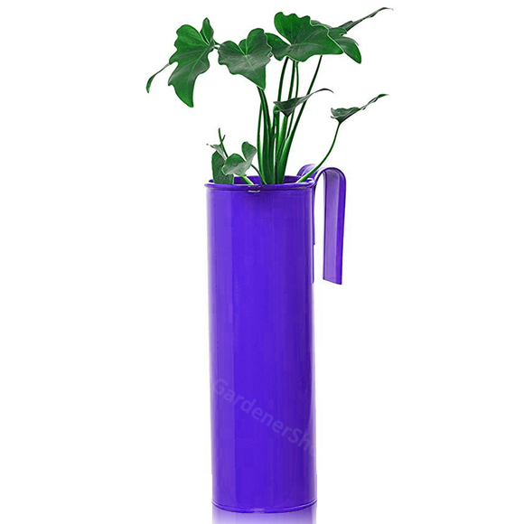 Fife pot- Cylindrical Railing Planter- Purple - Gardenershopping