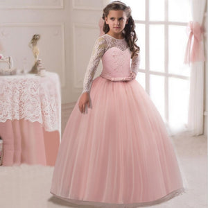 5a95bba9a Romantic Puffy Lace Flower Girl Dress for Weddings Girl Party Dress Pageant  Gown.