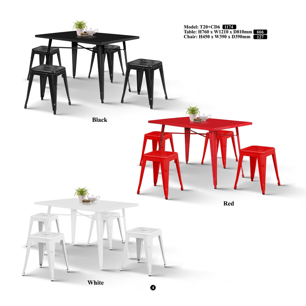 Metal Dining Set-T20+CD6
