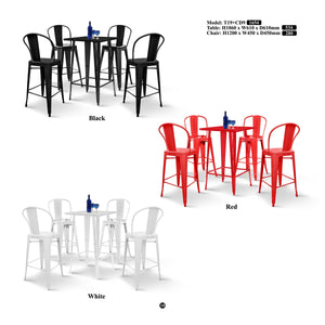 Metal Bar Table Set-T19+CD9