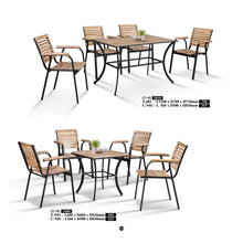 M&N - Outdoor Garden Set - Square - T-N01-C-N01 (1+4)