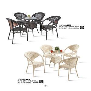 M&N - Outdoor Garden Set - Round - TB75+C41(Gold)