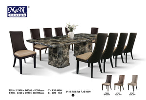 M&N-Dining Table-Rectangle(1+10)