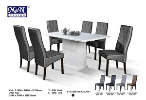 M&N-Dining Table-Rectangle(1+6)