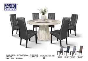MN-MARBLE DINING TABLE-ROUND-SM68