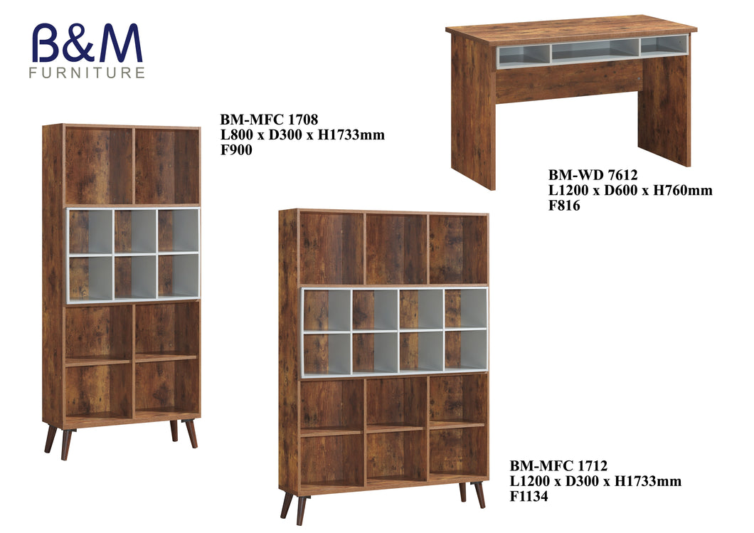 Wood - Living Hall Cabinet Collection - Walnut - 2