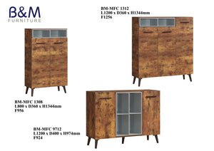 Wood - Living Hall Cabinet Collection - Walnut - 3