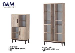 Wood - Living Hall Cabinet Collection - Oak 3