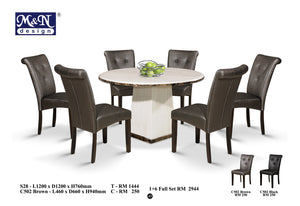 MN-MARBLE DINING TABLE-ROUND-SM28
