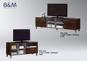 Wood - TV Cabinet Collection - Dark Brown