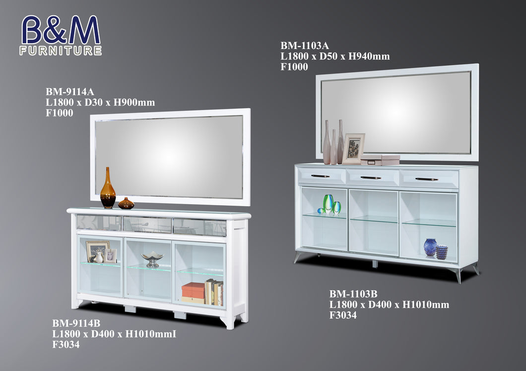 Living Hall Side Cabinet Collection - White