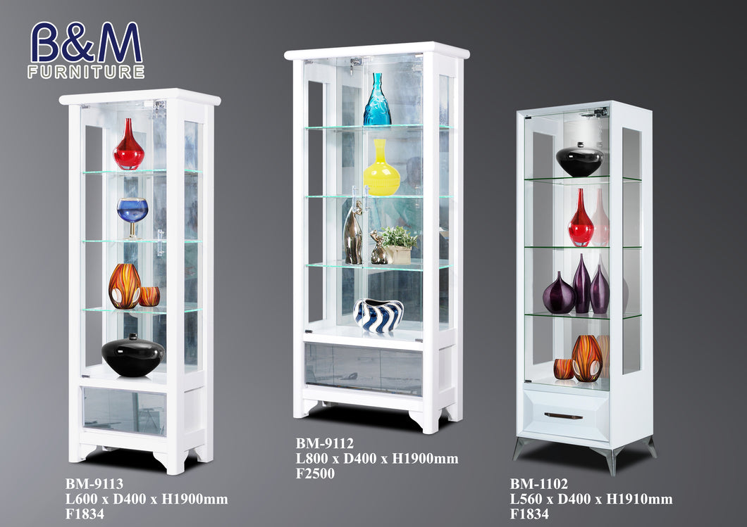 Living Hall Display Cabinet Collection - White