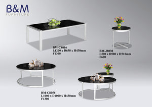 Coffee Table - Round - Metal Collection with tinted Glass Top - 2