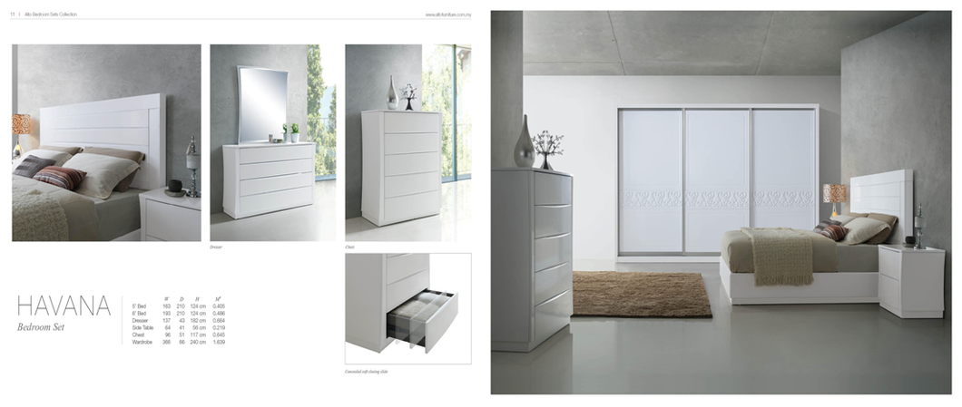 Bedroom Set - Alto AX2 Series - HAVANA