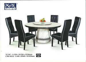 MN-MARBLE DINING TABLE-ROUND-TC187