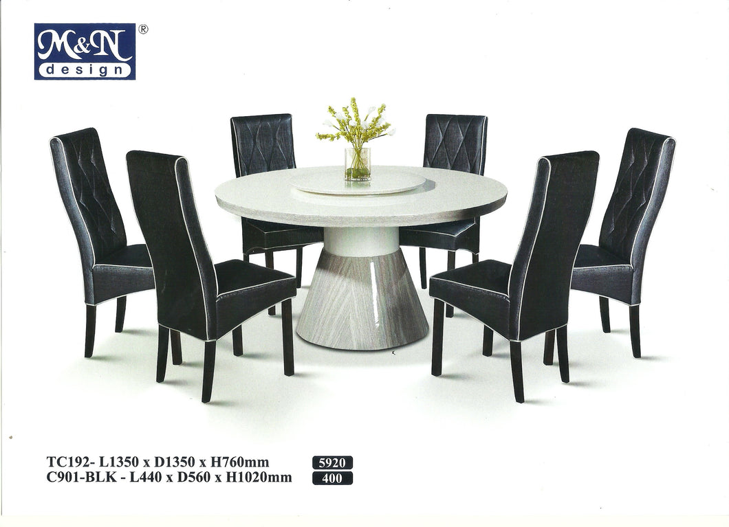 MN-MARBLE DINING TABLE-ROUND-TC192