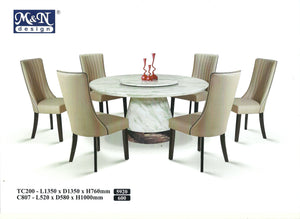 MN-MARBLE DINING TABLE-ROUND-TC200