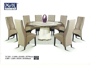 MN-MARBLE DINING TABLE-ROUND-TC202-1.6M