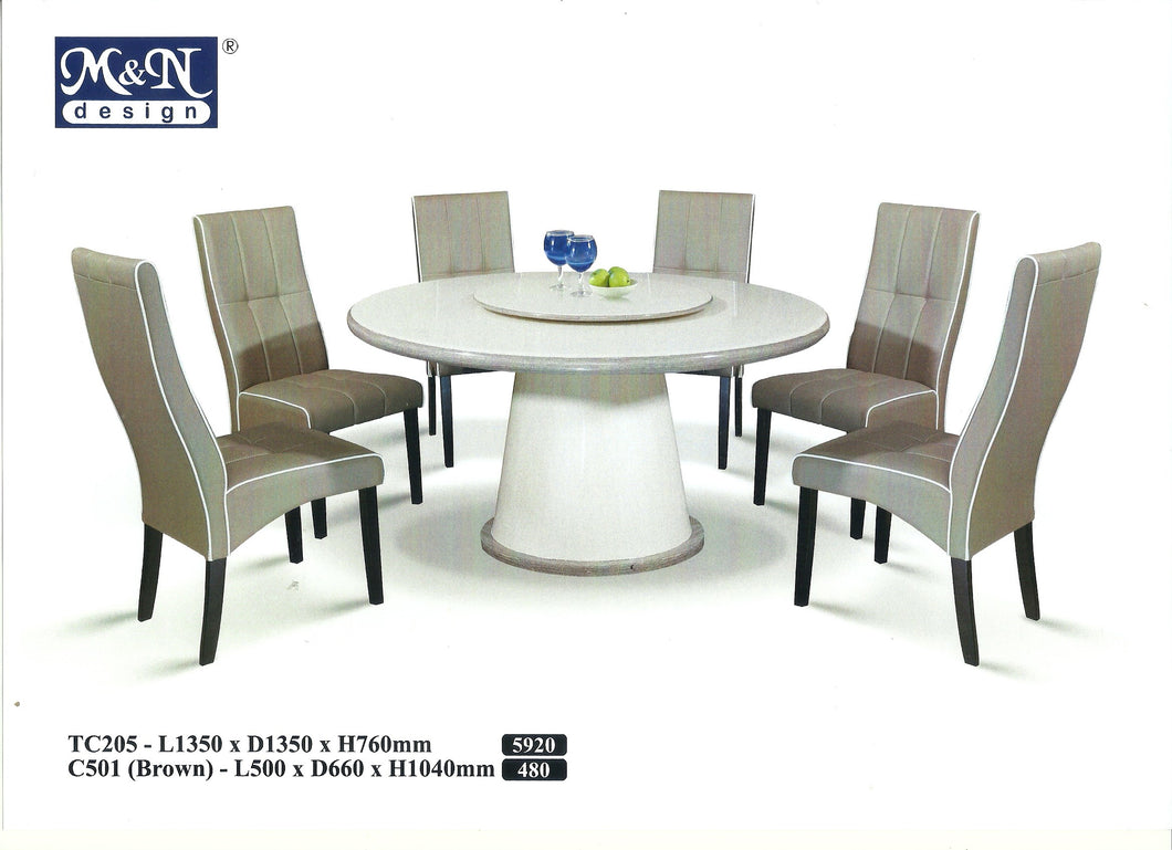 MN-MARBLE DINING TABLE-ROUND-TC205