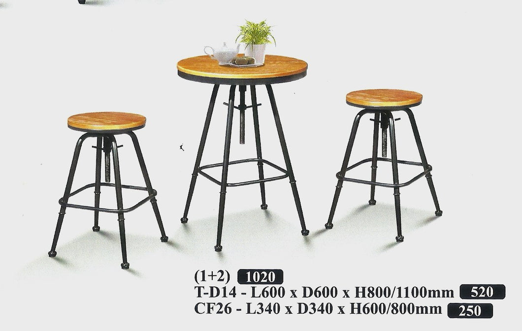 Wood Bar Table Set - T-D14-CF26