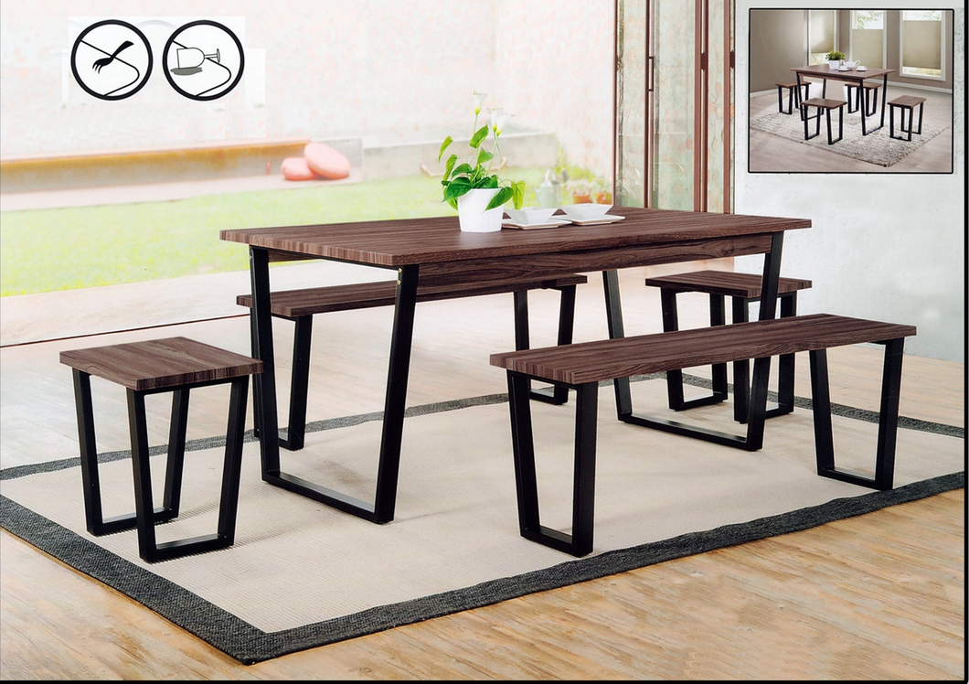 Wood Dining Table Set - Rectangle - BM-M2