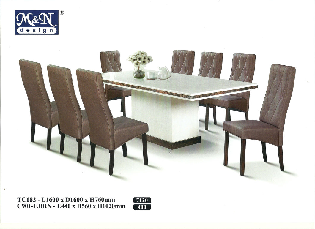 M&N-Dining Table-Rectangle(1+8)-TC182