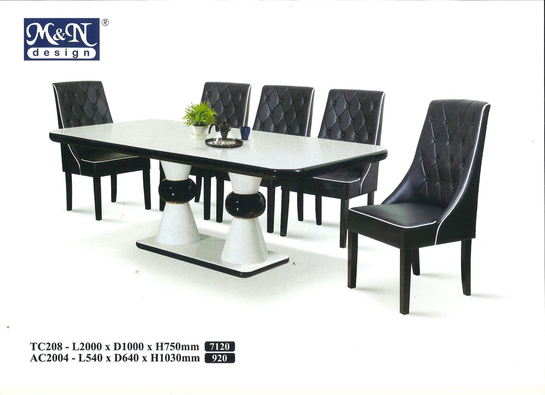 M&N-Dining Table-Rectangle(1+8)-TC208-2M