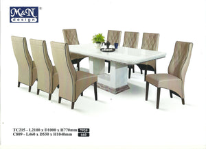 M&N-Dining Table-Rectangle(1+8)-TC215-2.1M