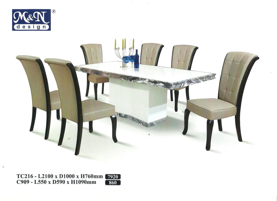 M&N-Dining Table-Rectangle(1+8)-TC216-2.1M