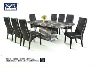 M&N-Dining Table-Rectangle(1+8)-TC218-2.1M