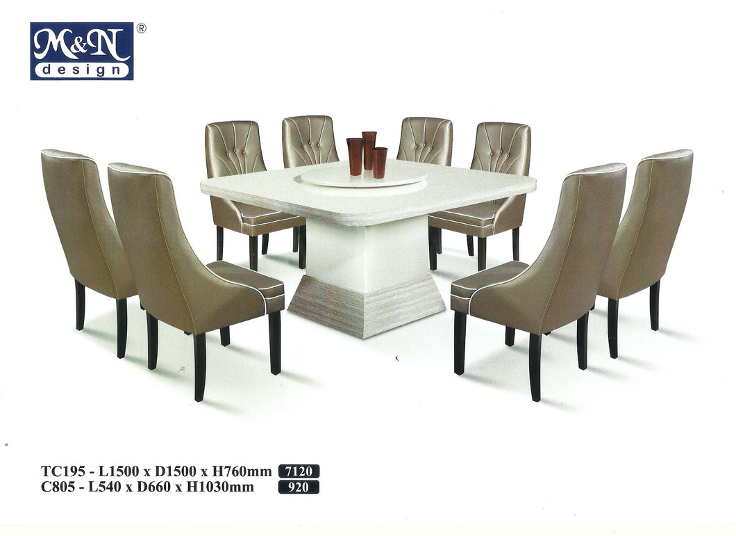 MN-MARBLE DINING TABLE-Square-TC195