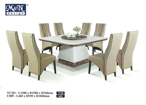 MN-MARBLE DINING TABLE-Square-TC201