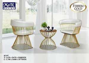 Ferrero Gold Collection - Leisure Chair + Table - KY07