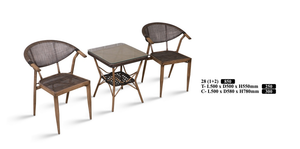 M&N - Outdoor Garden Set - Square- 28(1+2)