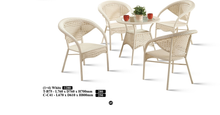 M&N - Outdoor Garden Set - Round - TB75+C41(White)