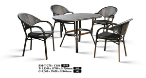 M&N - Outdoor Garden Set - Round - BM-TC78-C186(1+4)