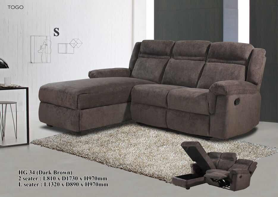 Fabric Sofa - L-Shaped - HG34