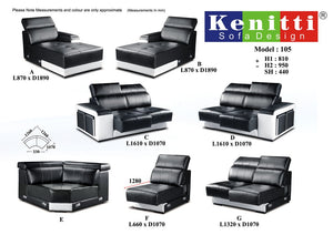 Kenitti Sofa - Corner Mix & Match Series - 105 (C+E+G+A)