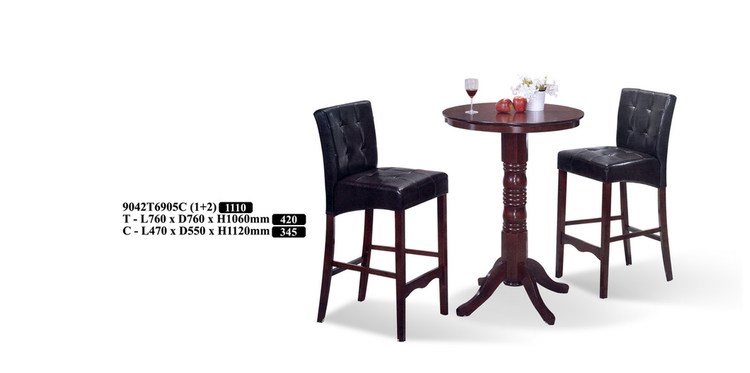 Wood Bar Table Set - 9042T6905C
