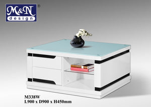 M&N - Coffee Table - Square - M338W