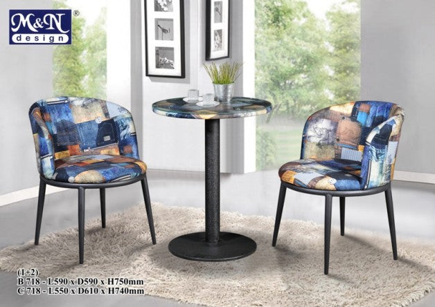 M&N - Outdoor Garden Set - Round - B-718-C-718